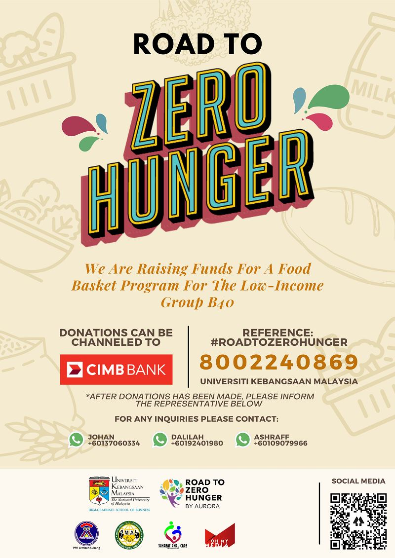 'road to zero hunger' project set to help out b40 group amidst covid-19 pandemic