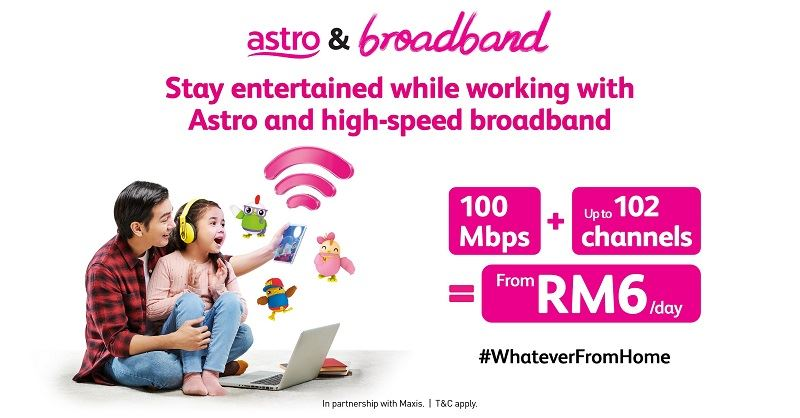 astro offers entertainment and connectivity from only rm6 a day!