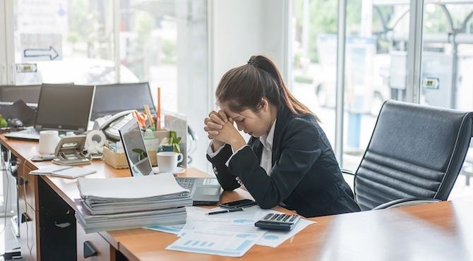 employees across asia find workload the top cause of poor mental health