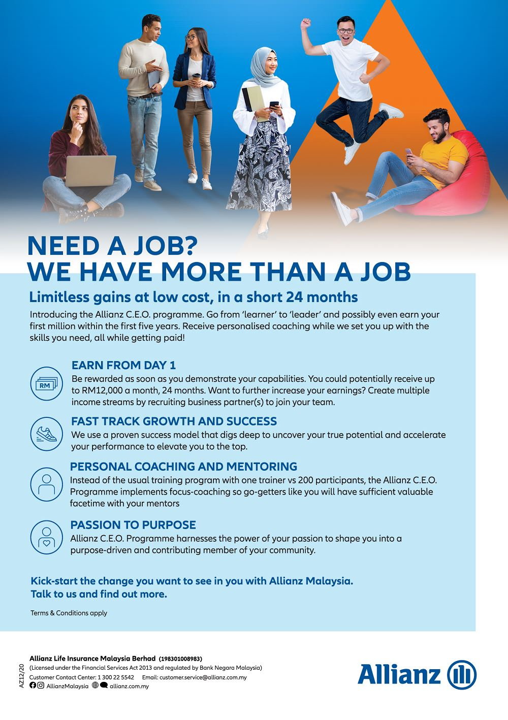 join the allianz c.e.o.programme and become an a-list insurance agent in 24 months!