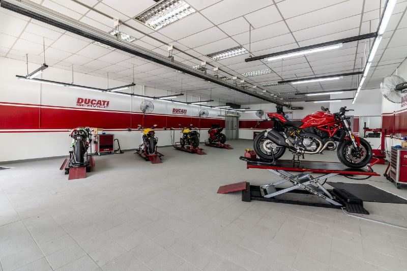 the second largest ducati showroom in south east asia is now in malaysia!
