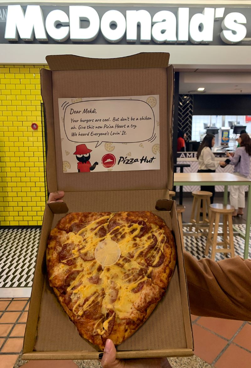 pizza hut giving its heart to competitors