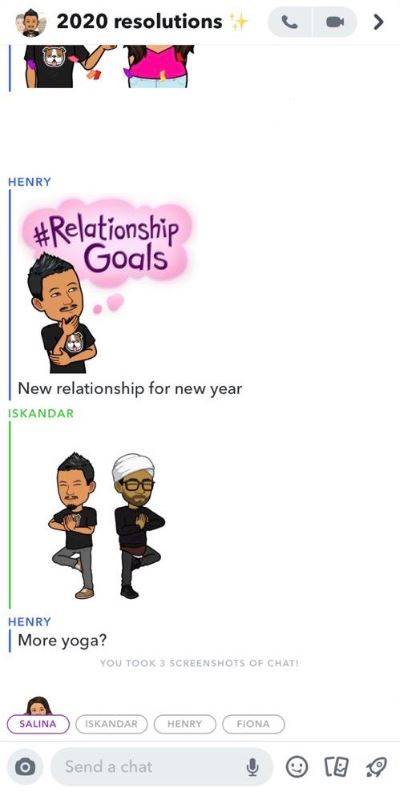 keep your new year's resolutions with snapchat!