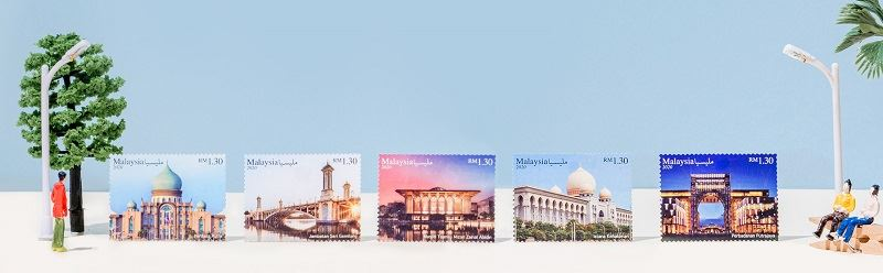 putrajaya turns 25 this year, and pos malaysia is celebrating with some special stamps!