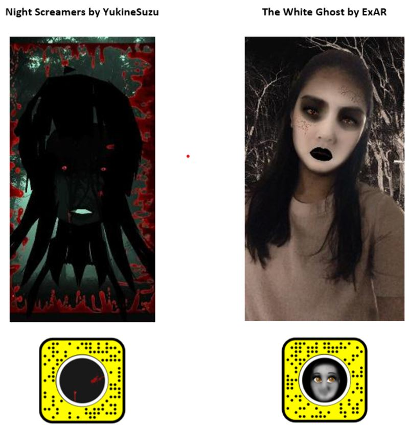 scare your friends this halloween with these filters!