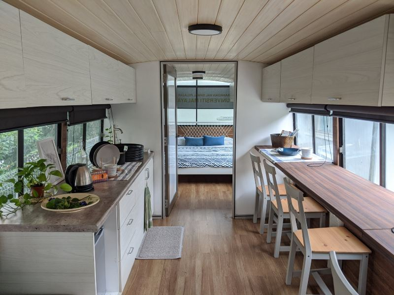 this university turned an old school bus into a tiny home!