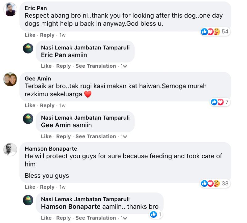a fur friend who lined up for fried chicken stole netizen's hearts!