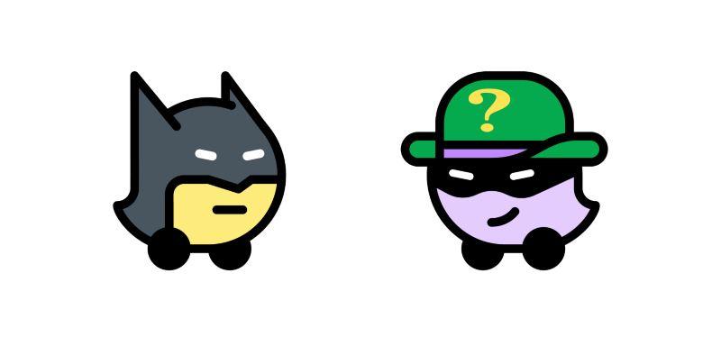 introducing batman and the riddler on waze!