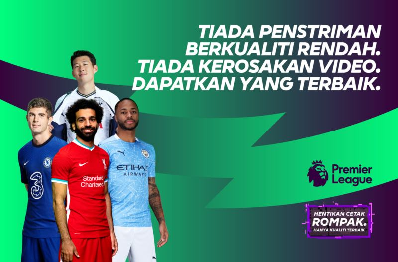premier league launches campaign to 'boot out piracy' in malaysia