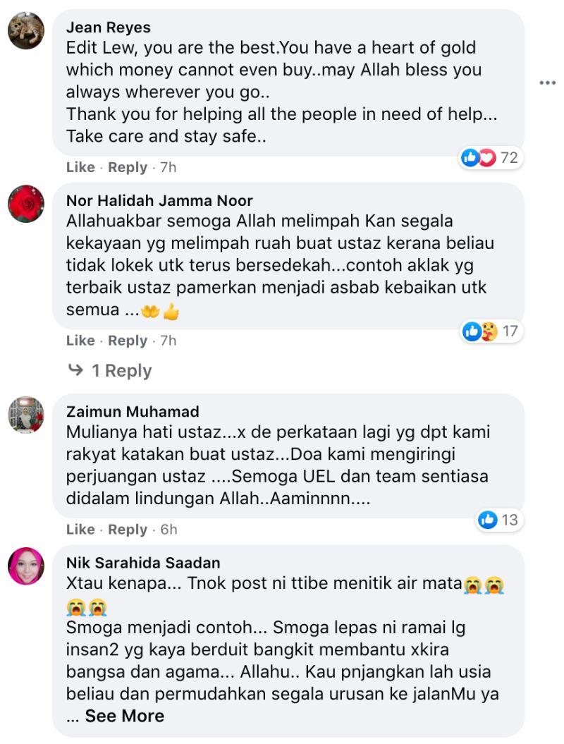 famous preacher ustaz ebit lew delivers water to batu caves residents