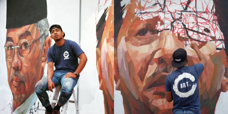 there's a mural in shah alam dedicated to malaysia's heroes!