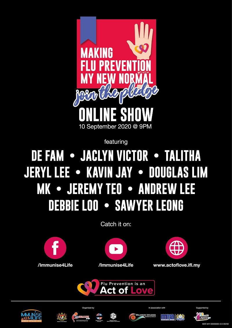 these malaysian artistes are doing an online show for flu prevention