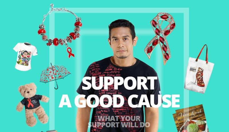 shopee and the malaysian aids foundation have come together for a special campaign