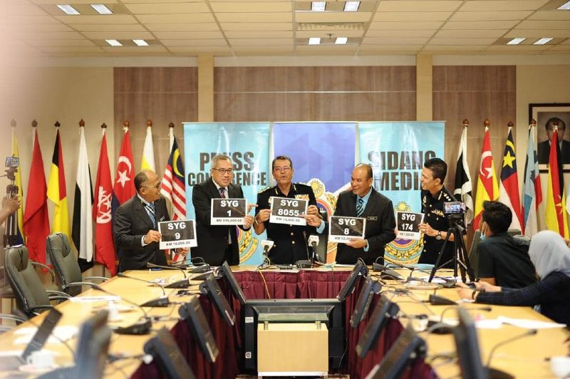 jpj receives over rm3 million in bids for 'syg' number plate