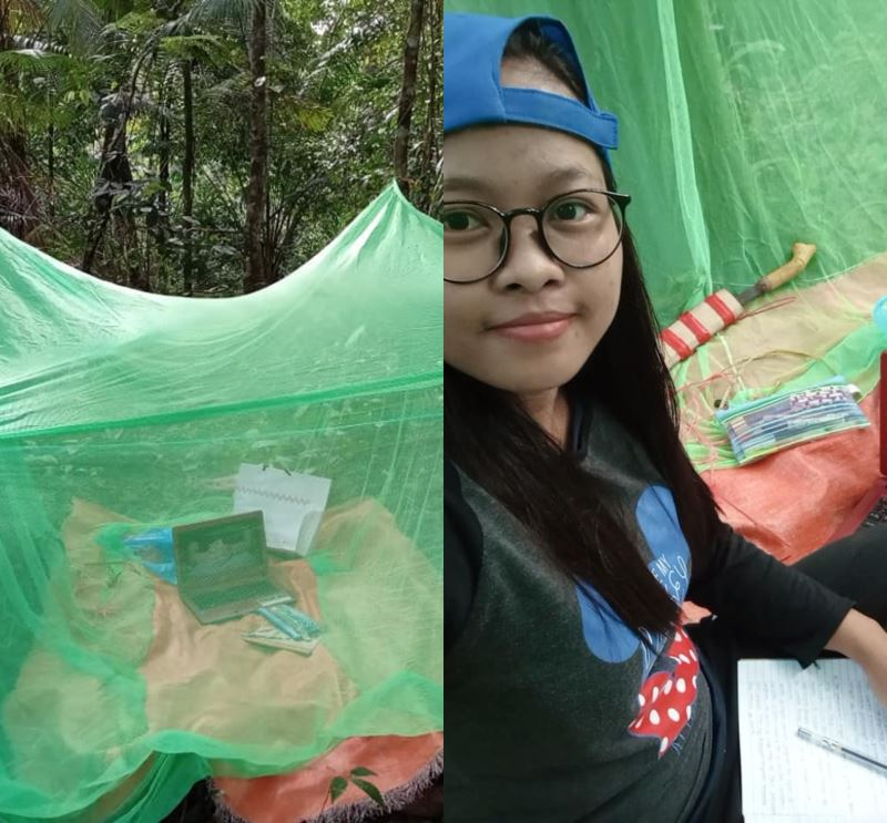 inspired by veveonah, now this sarawak girl opted to camp out in order to get internet connection to