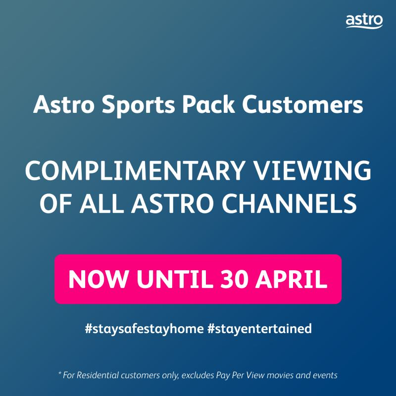 sports fans! you can now watch all your favourite games on astro!