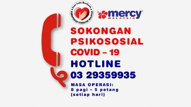 Get Qualified Mental Health Support During RMO Via The Mercy Malaysia Hotline