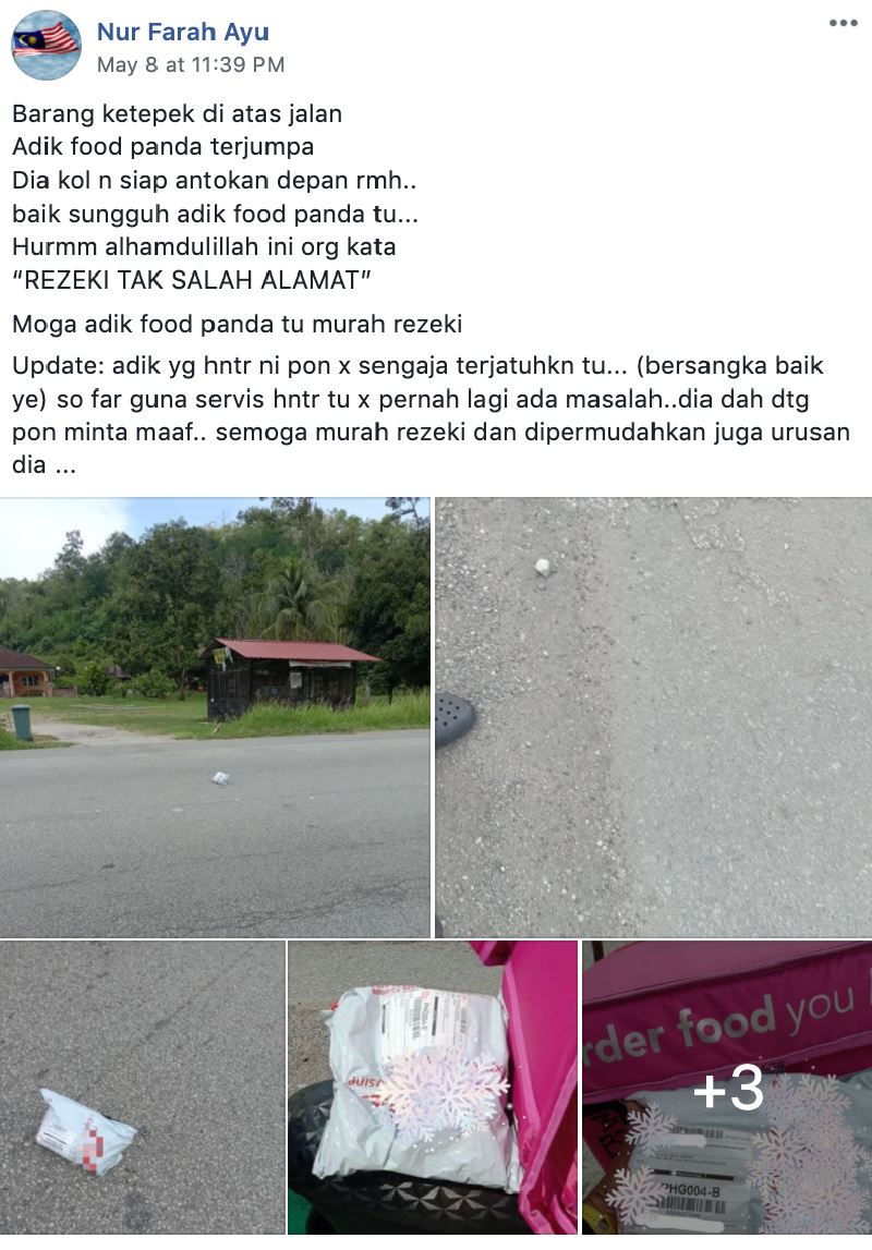 this rider went the extra mile to deliver a package he found on the road