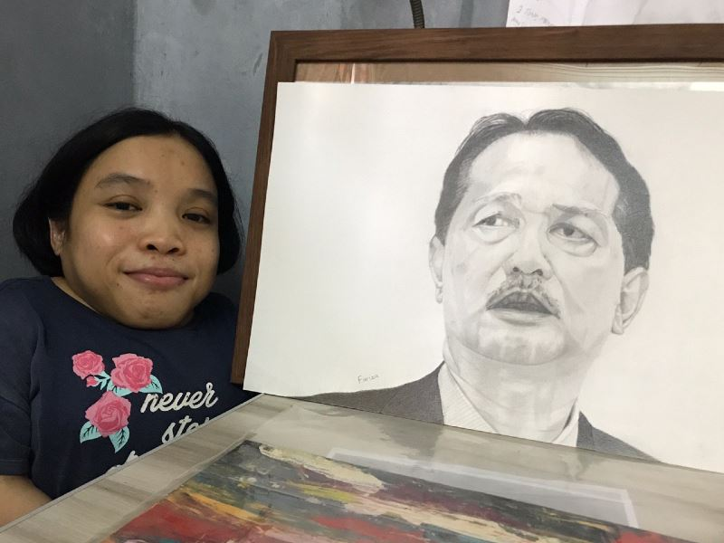 this gifted artist created a lifelike portrait of dr noor hisham