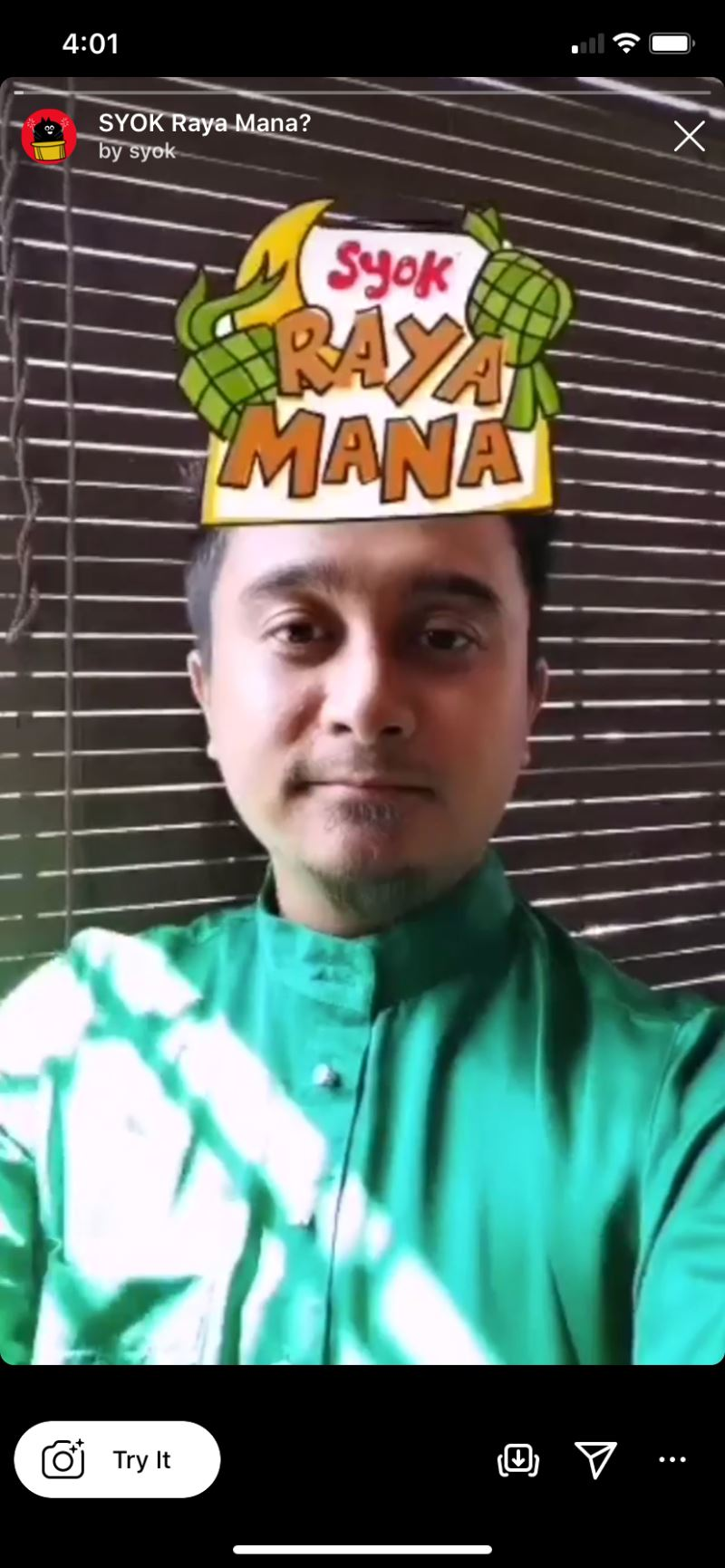 have you tried out our new syok hari raya filter?