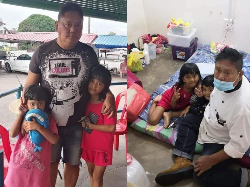 single dad risks homelessness, relocates to selangor for his daughters