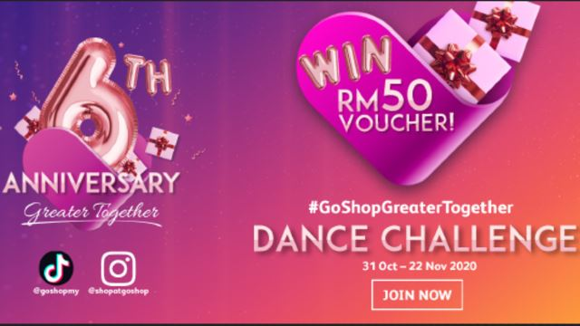 Celebrate GoShop's 6th Anniversary With #GoShopTogether Dance Challenge!