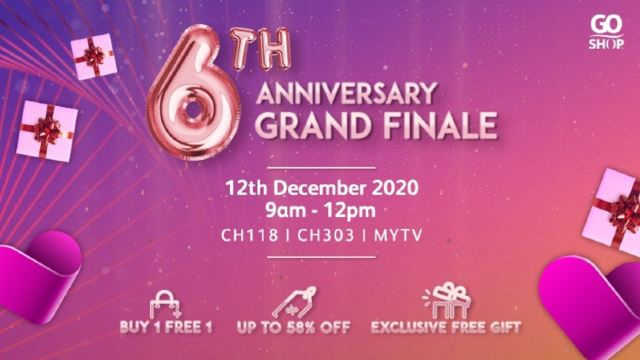 Let's Celebrate Go Shop's 6th Anniversary Grand Finale On 12.12!