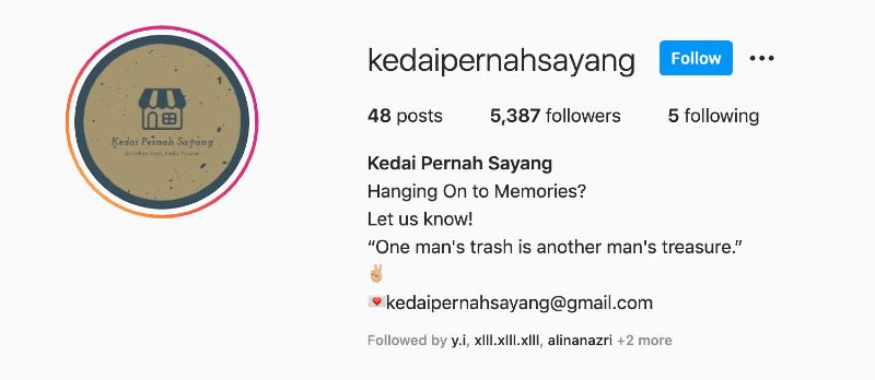 this instagram shop helps couple to sell their memories