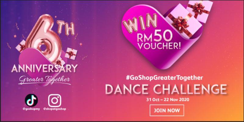 celebrate goshop's 6th anniversary with #goshoptogether dance challenge!