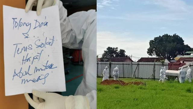 Perak COVID-19 Patient Wrote Heartbreaking Note To Family On Hospital Deathbed