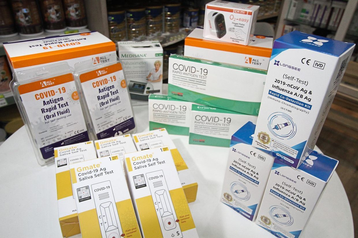 malaysians are advised to check with mda before buying covid-19 rapid test-kits online