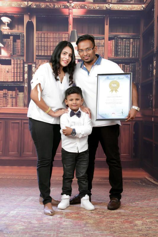 4-year-old boy secured his name in the malaysia book of records, able to name 147 flags in 15 minute