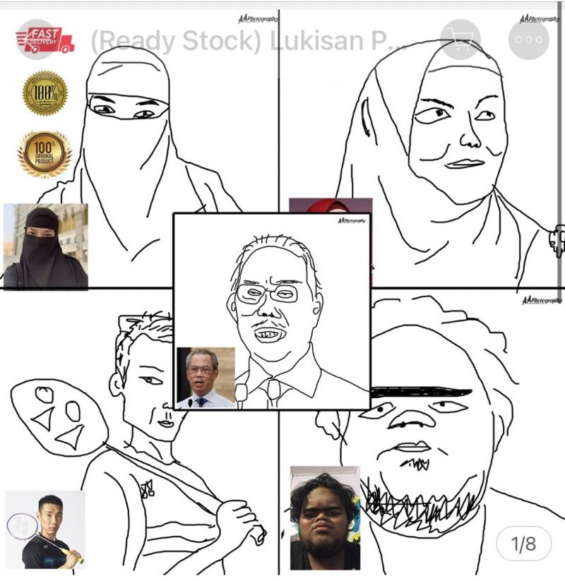 malaysian goes viral for selling over 200 pieces of his bad art online