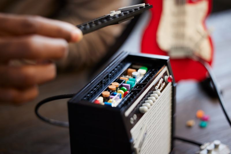turn your amp up as lego reveals the new lego ideas fender stratocast set!