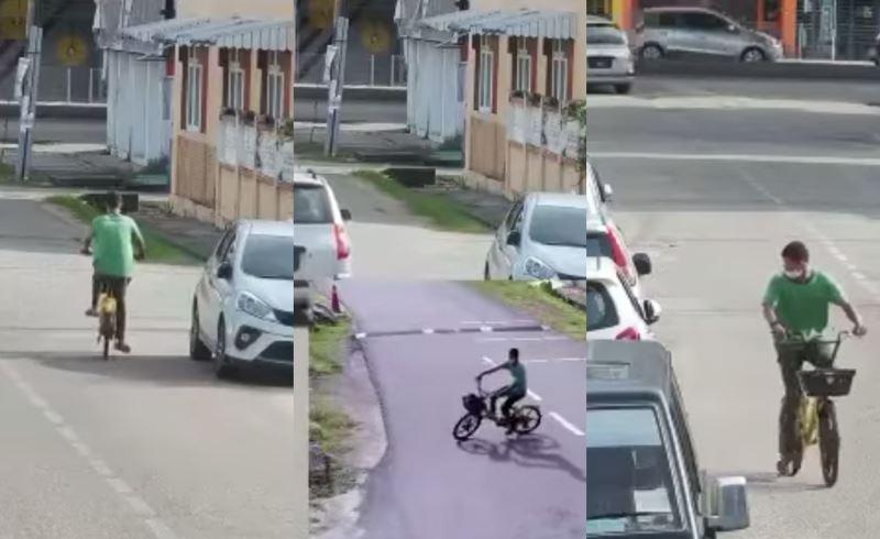 police looking for man caught on cctv flashing a woman in kelantan