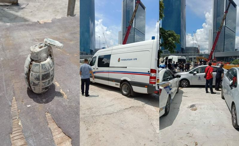 bomb scare at kl construction site, turns out it was just a powerbank