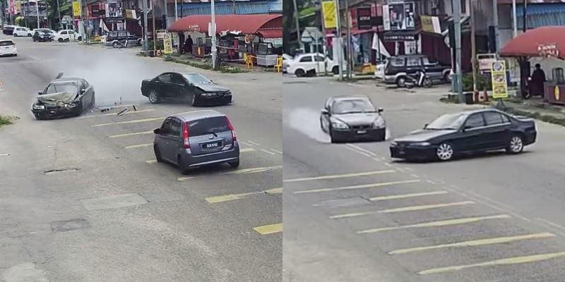 driver in kelantan attempts to make illegal u-turn, causes horrible crash
