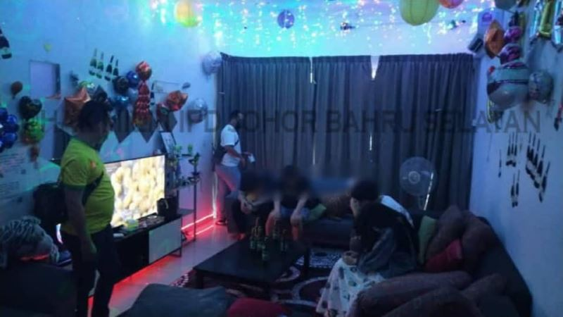 four individuals fined rm4,000 each for having a birthday party in johor bahru