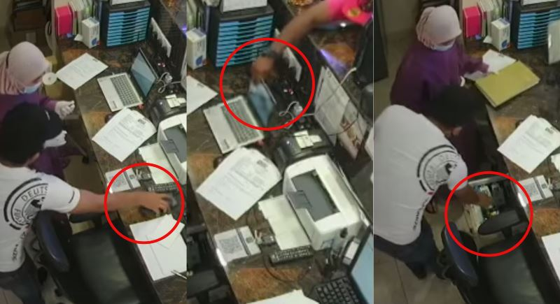 video of four men robbing a dentist in setapak goes viral, clinic staff remains calm