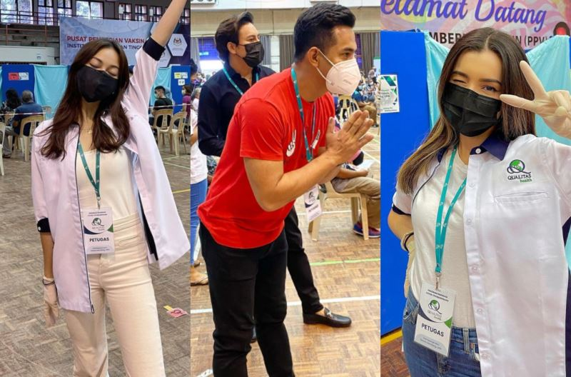 local celebrities have come forward to offer their help at vaccination centres!