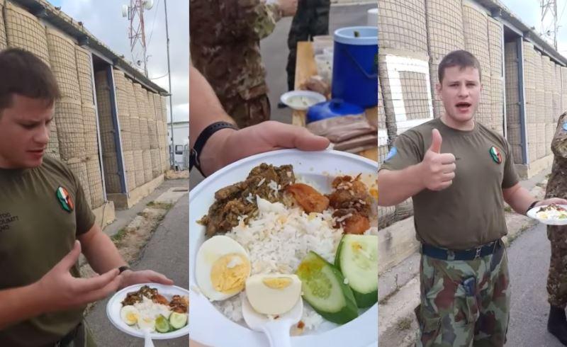 "lebanese soldier describes nasi lemak as ""mantap!"""