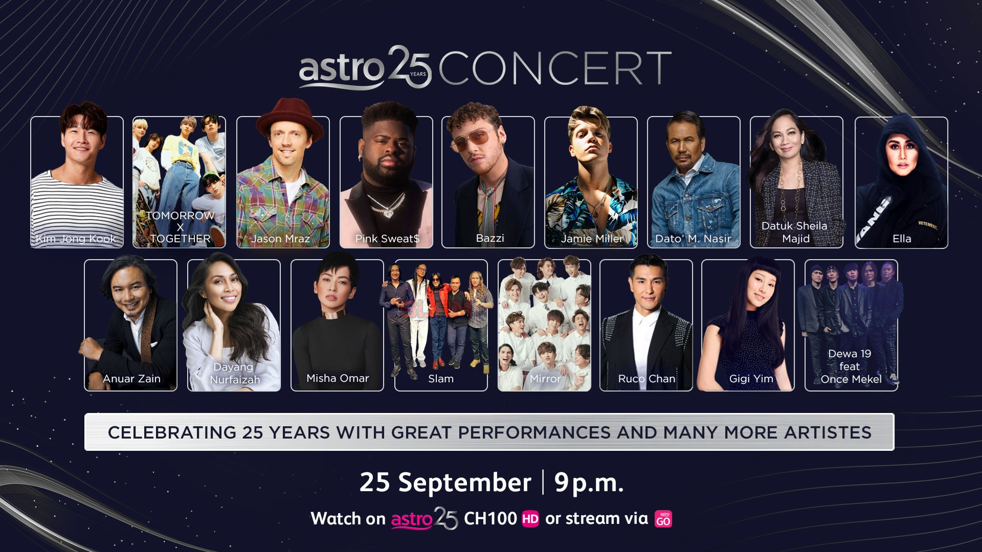 jason mraz, pink sweat$ and bazzi will be performing alongside local celebrities at astro 25 concert!
