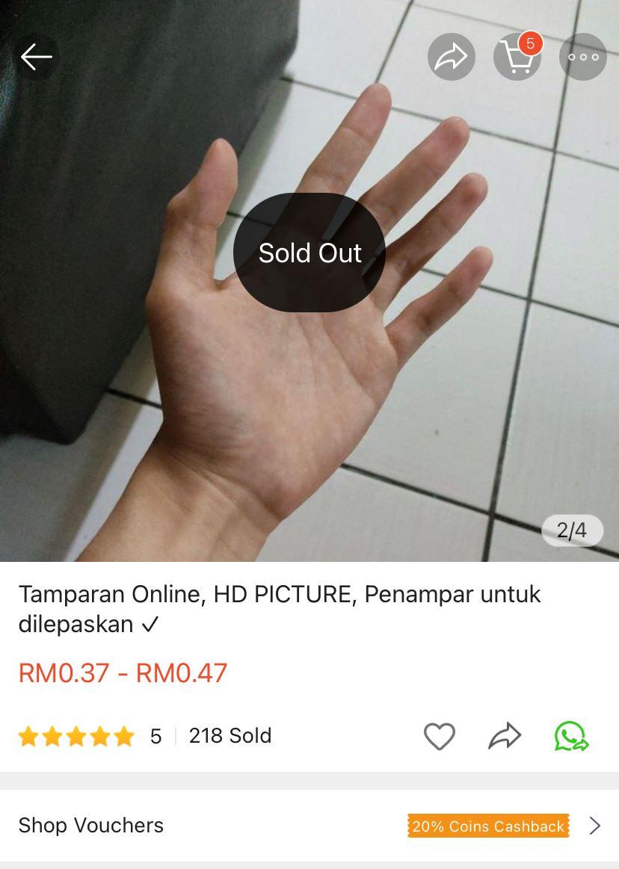 "sabahan sells ""virtual slaps"" online, over 200 slaps sold so far!"