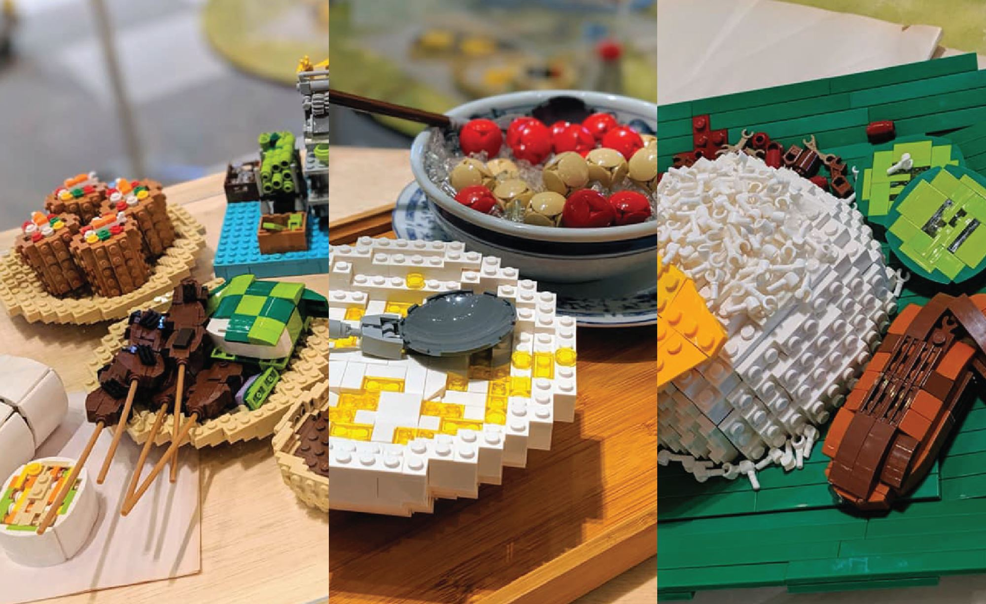 our favourite malaysian dishes recreated using lego bricks!
