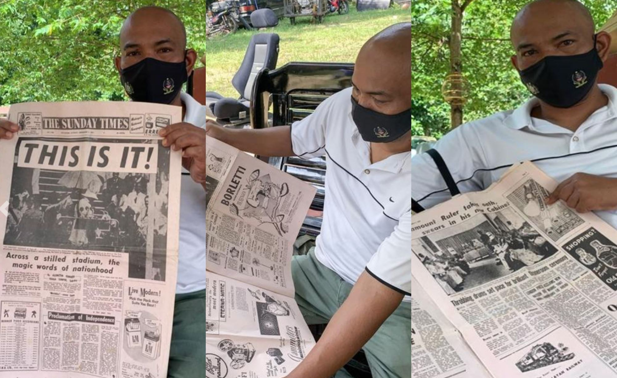 man from kelantan cherishes copy of newspaper from 1957 independence day