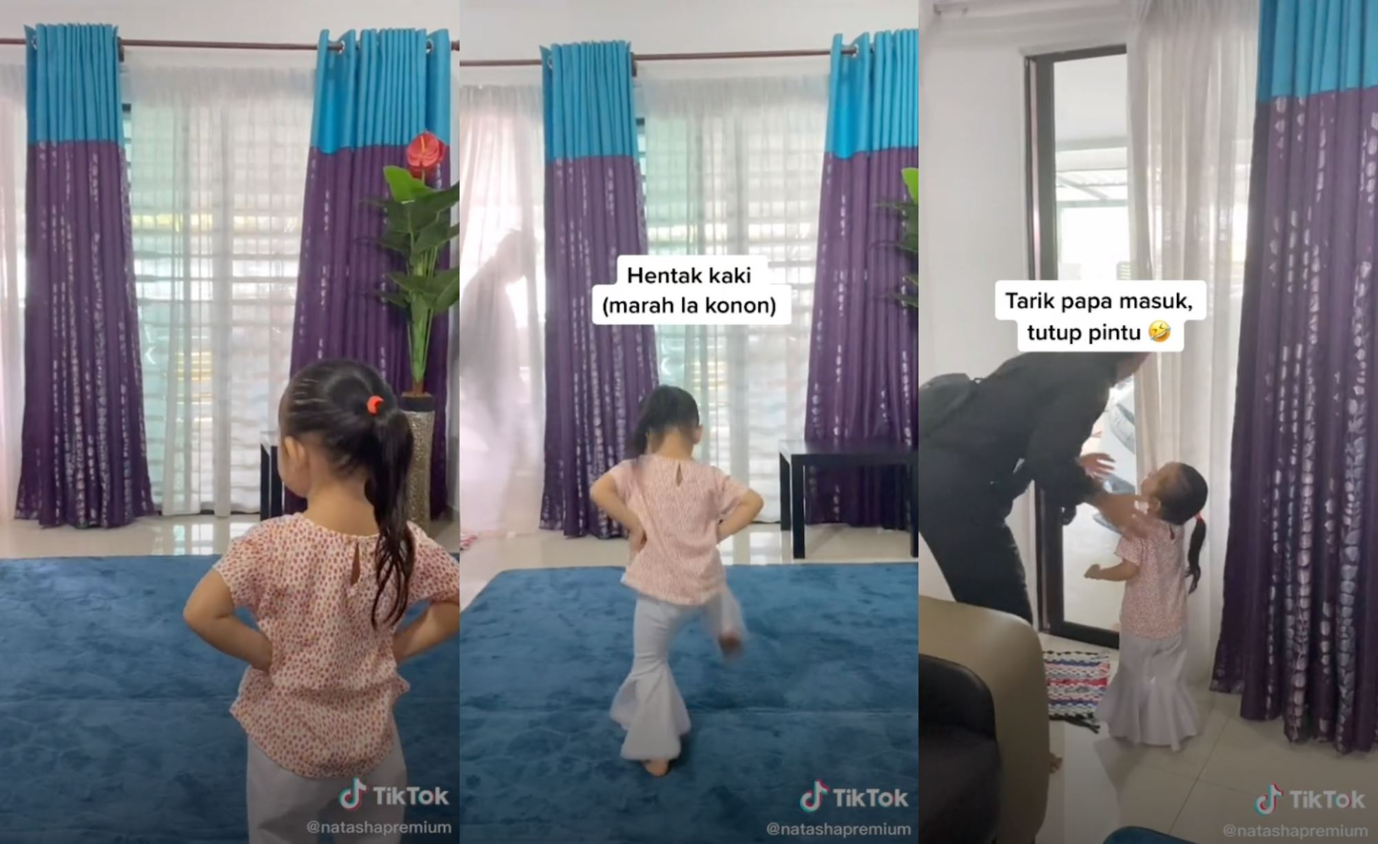 video of young girl not allowing her father leave for work steals netizens' hearts!