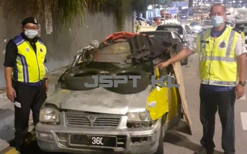viral run-down kancil owner detained by police for being on the road