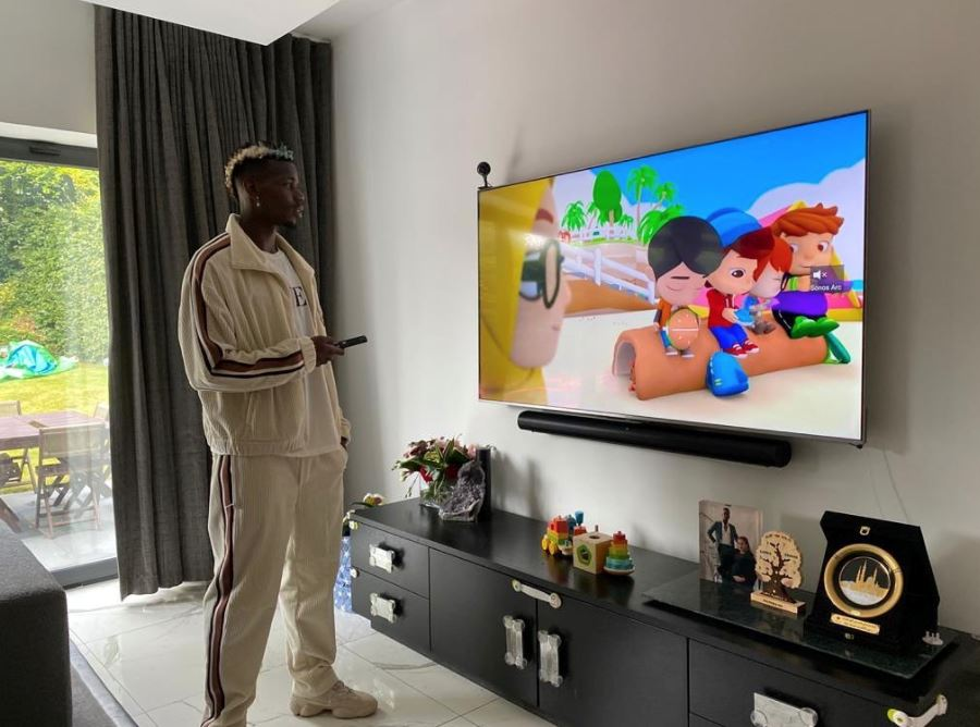 netizens show excitement over paul pogba's photo watching local animated series, omar & hana!