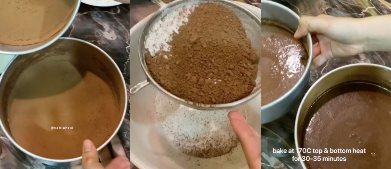 resepi kek coklat macam dalam kartun mr. bean! cantik, sedap dan mudah sebenarnya!