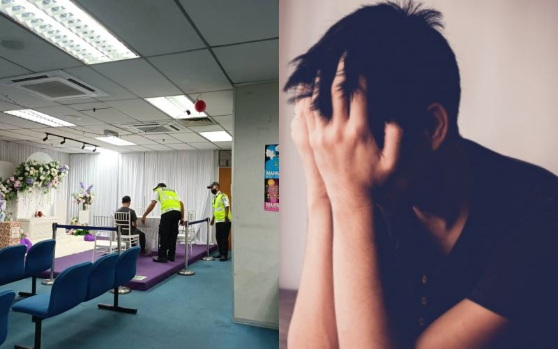 akibat putus cinta, pemuda berzikir dan mengaji dengan kuat di pejabat jawi